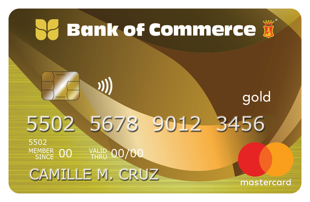 Bank of Commerce Gold Mastercard