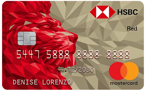 HSBC Red Mastercard Red Contactless valid thru 2030