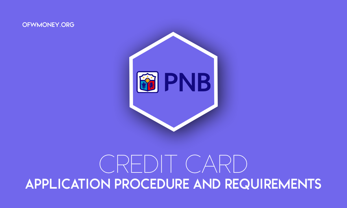 How to Apply Philippine National Bank PNB Credit Card
