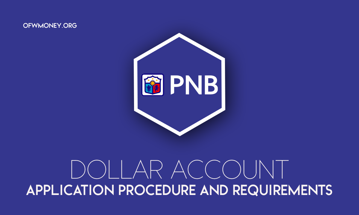 How to Apply Philippine National Bank PNB Dollar Account