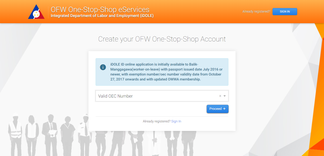 OFW One-Stop-Shop Account 01
