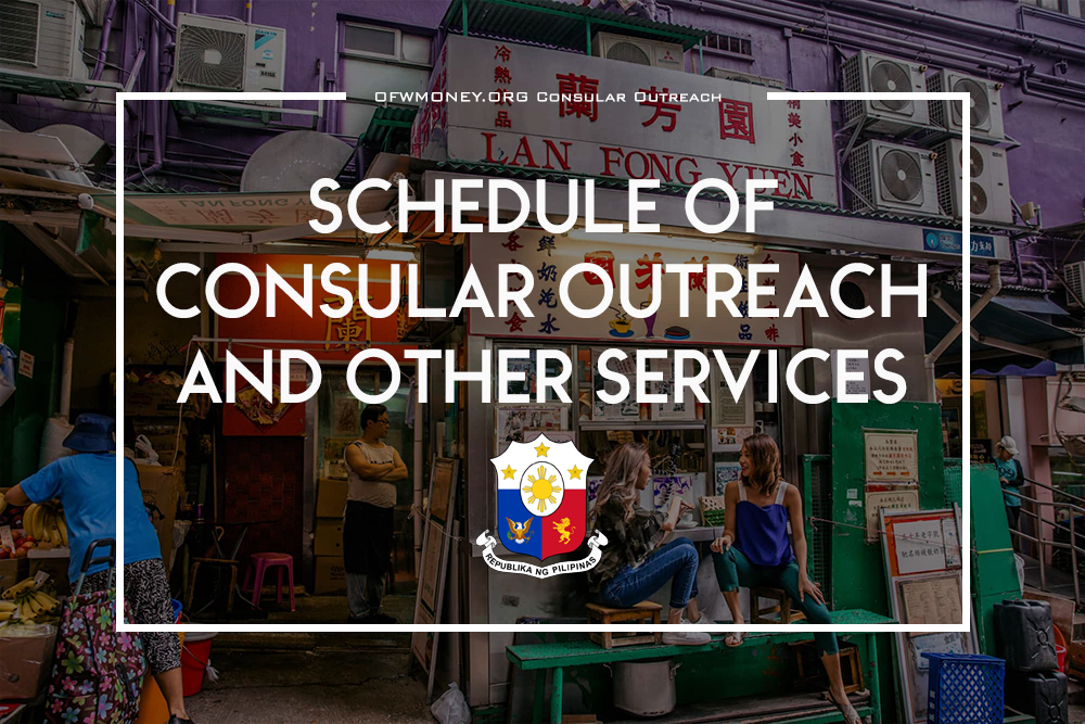 Philippine Consular Outreach Schedule and Locations