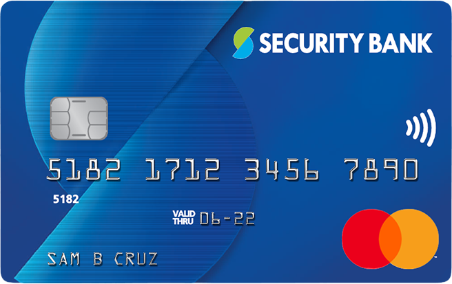 Master Classic, Security Bank Credit Card Contactless