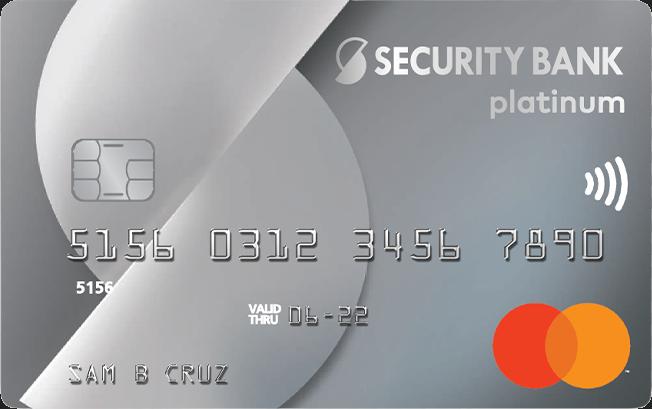 Security Bank Platinum Mastercard Contactless