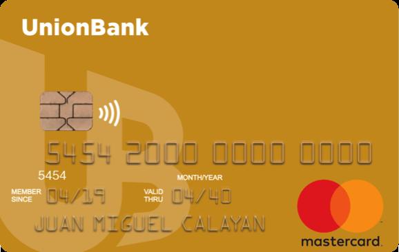 UnionBank Gold Visa Card Contactless