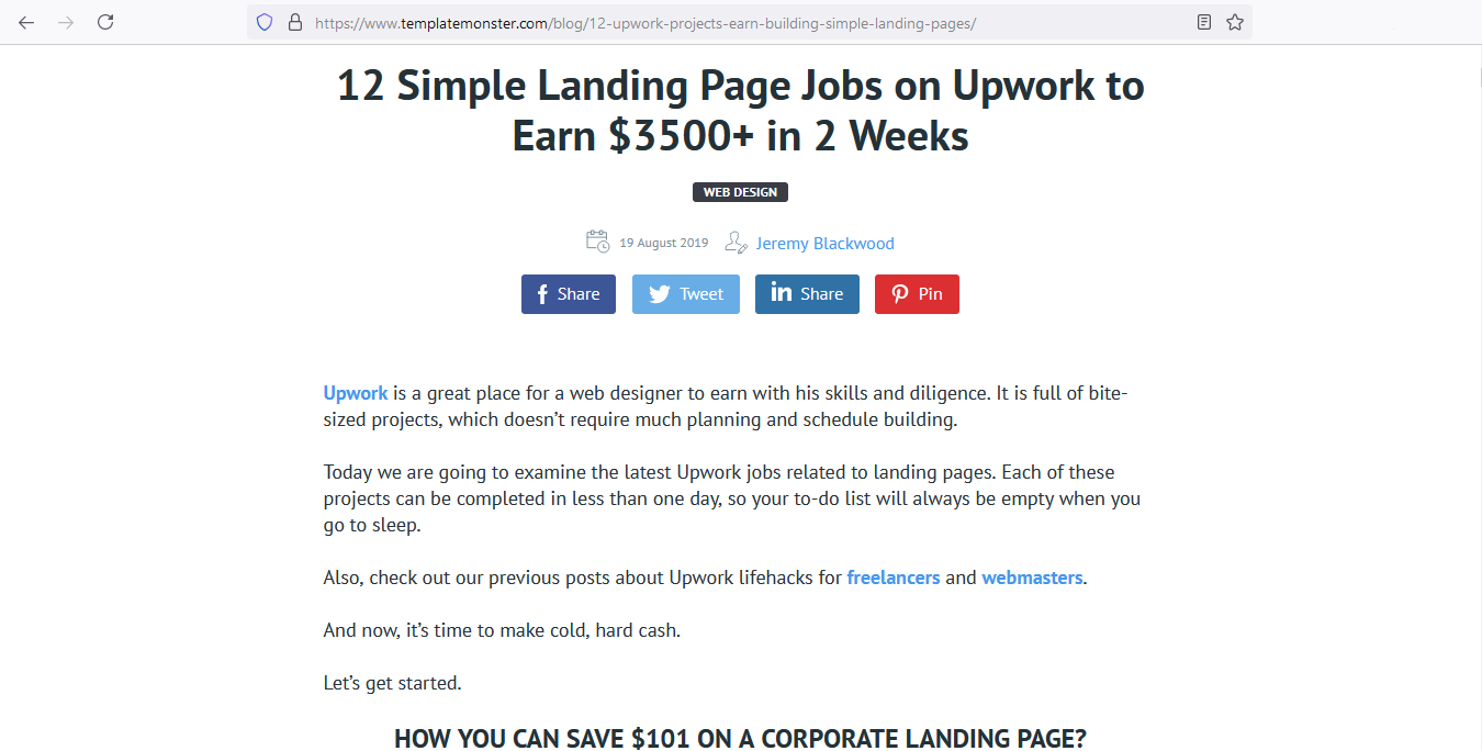 Become an expert in landing pages