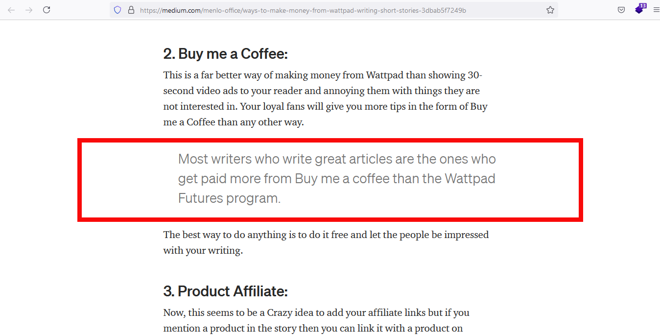 Create and publish stories on Wattpad can make money